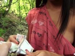 Maria Fiori payed for fucking in public