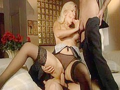 Exotic pornstars Ashley Stone, Rebecca Bardoux in Horny MILF, Threesomes adult clip