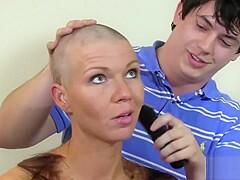 Porn head shave Shaving