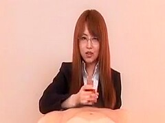 Nanako Mori is a horny office babe that gives the perfect double blowjob.