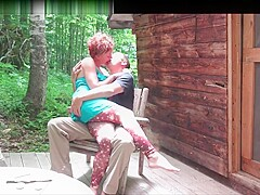 Big tits woods cabin Hot Couple Shaging At Their Cabin In The Woods Pornzog Free Porn Clips