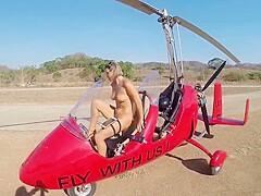 Girl naked gyrocopter Gyrocopter girl