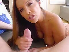 Latina Dirty Talk Handjob