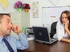 Alexis Love and Katie Morgan Office Fuck