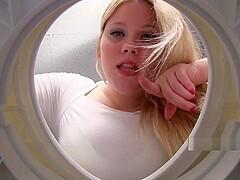 turkish girl teasing on the toilet